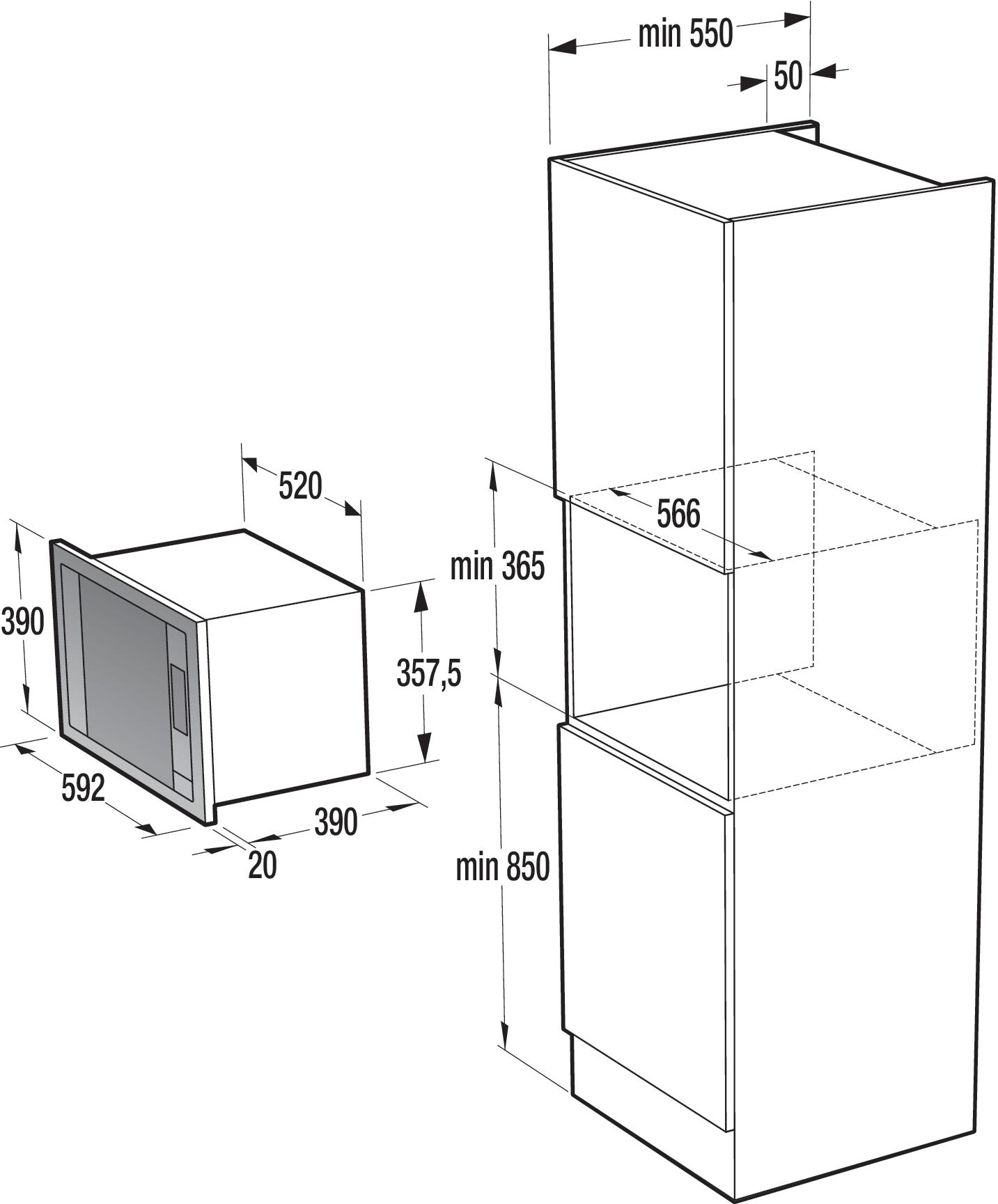 four micro ondes encastrable bm5350x gorenje. Black Bedroom Furniture Sets. Home Design Ideas